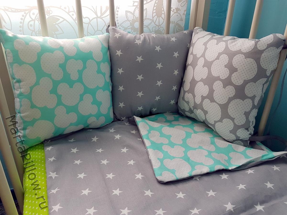 Сшить подушки в детскую кроватку мастер класс 85